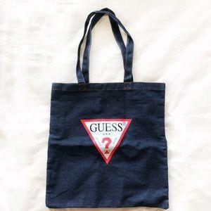 GUESS Denim Logo Tote